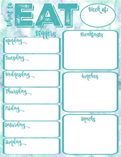 printable planner online pantry makeover free printable weekly meal planner and