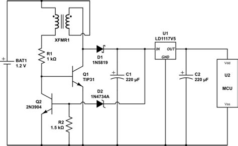 pnp transistor joule thief protection regulated joule thief why it works electrical engineering stack exchange