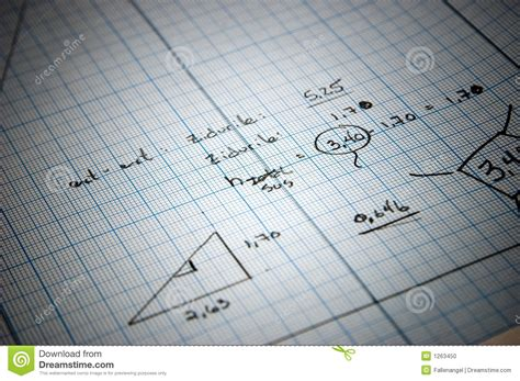 blueprint math blueprints stock photo image 1263450