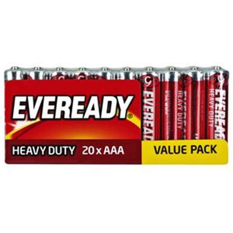 Baterai Eveready Aaa X 4 Heavy Duty eveready aaa heavy duty batteries 20 pack officeworks
