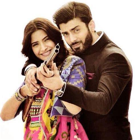 film india romance sonam kapoor fawad khan on the sets of khoobsurat