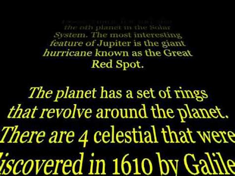 Planet Jupiter Powerpoint Opening Star Wars Crawl Youtube Wars Crawl Powerpoint