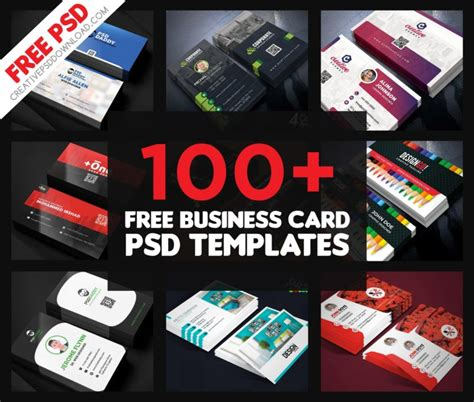 100 free business card templates 100 free business card psd templates