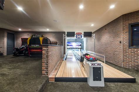 Garage Bowling Alley Home Bowling Alley Pic 2 Of 2 Rooms Bars Etc