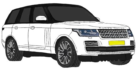 range rover drawing range rover with tablet d by gottvich on deviantart