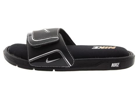 nike comfort slide 2 nike comfort slide 2 in black for men black metallic