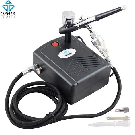 Air Mini 3 ophir 0 3mm dual airbrush kit with mini air compressor for makeup model hobby cake