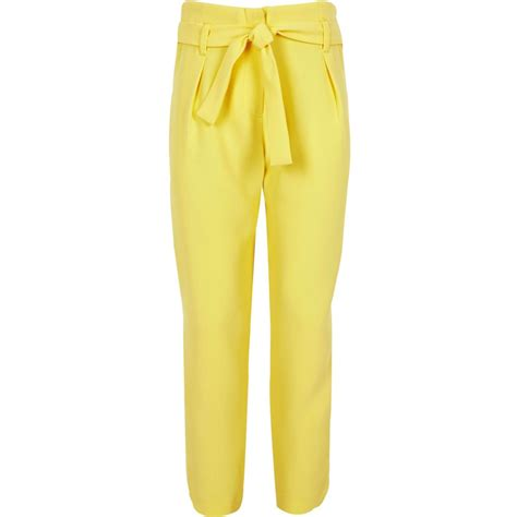 yellow patterned trousers girls yellow tapered trousers trousers sale girls