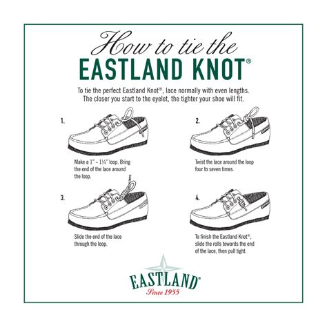 knots for boat shoes how to tie the eastland knot eastlandshoe