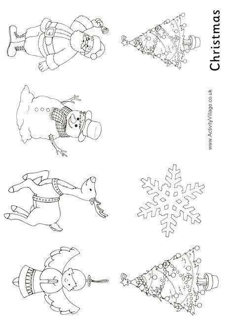 activity village christmas colouring booklet