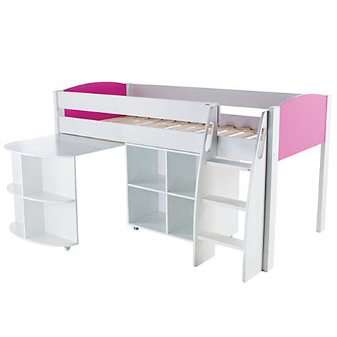 mid sleeper with desk and futon buy stompa uno s plus mid sleeper bed with pull out desk