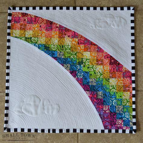 quilt pattern rainbow rainbow mini quilt full front quilting is 1 8 quot apart