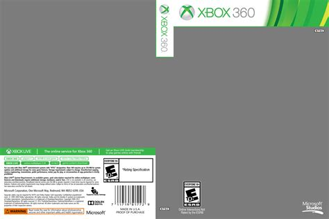 xbox one cover template xbox one cover template