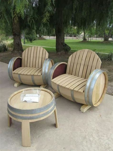 Barrel Garden Furniture barrel outdoor furniture for the home