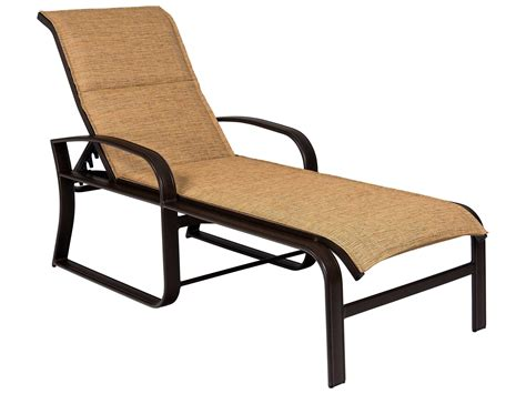 sling aluminum chaise lounge woodard cayman isle padded sling aluminum adjustable