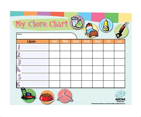 11 Chore Chart Template Free Sle Exle Format Download Free Premium Templates Chore Chart Template Word