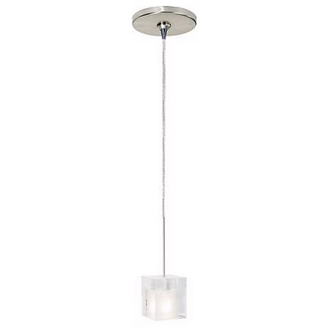 Tech Lighting Cube Pendant Cube Satin Nickel Frosted Glass Tech Lighting Mini Pendant 86311 84367 Ls Plus
