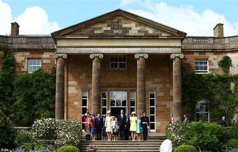 William And Kate Residence by Kate Middleton Recycles Brocade Coat At Hillsborough