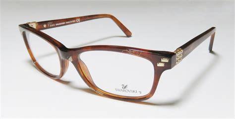 new daniel swarovski sw 5004 rhinestones eyeglass