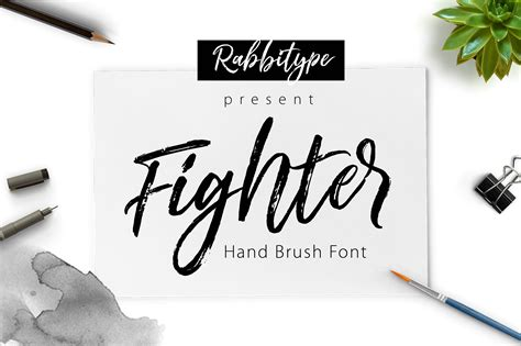 Brush Script fighter brush script fonts creative market