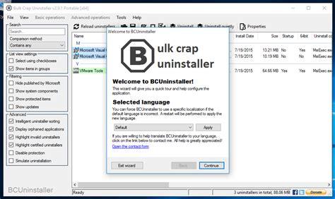 how to install uninstall windows programs in bulk bulk crap uninstaller download sourceforge net