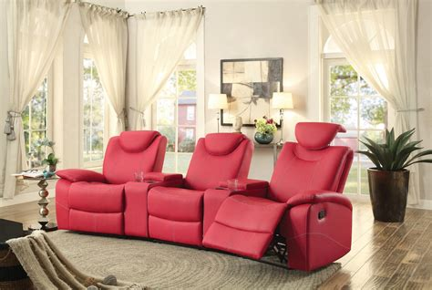 homelegance talbot reclining theater seating bonded