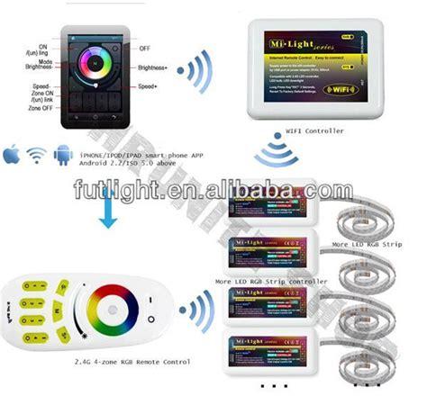 mi light 4 zone control mi light 2 4g rf 4 zone rgbw rgb w led strip light