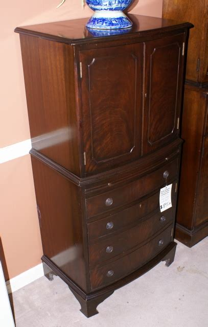another nice english bow front flame mahogany petite