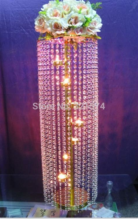 Aliexpress Com Buy 2pcs Lot Tall 83cm 32 68 Quot Crystal Table Chandeliers Centerpieces