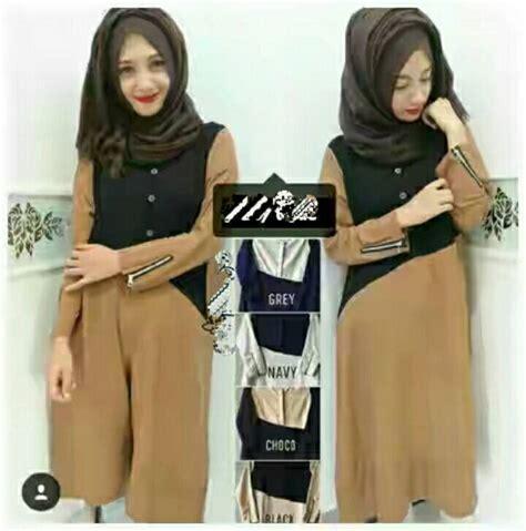 Baju Atasan Muslim Wanita Tunik Dress Gamis Busana Set jual harga baju atasan muslim wanita dress gamis busana set 08322 zero2fifty