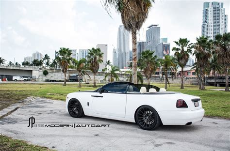 rolls royce white convertible white rolls royce dawn adv15 m v2 cs concave wheels