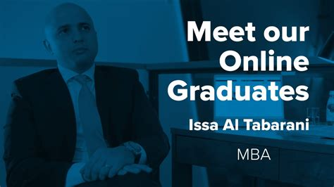 Of Alabama Mba Review by Meet Our Graduates Issa Al Tabarani Mba