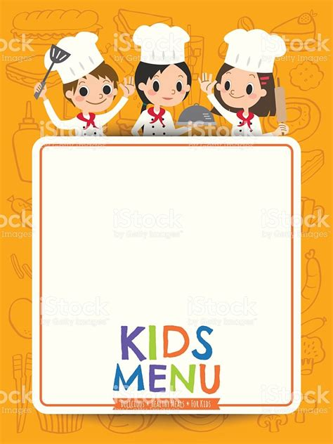 cooking board menu chef children with blank menu board stock vector 538183152 istock