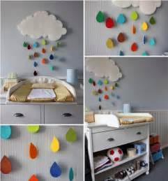 diy kids room decoration projects cute rainy clouds or