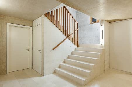 install  wood railing  concrete steps