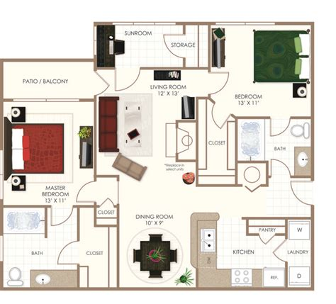 Post Carlyle Square Floor Plans by 1 Bedroom Apartments In Indianapolis Patio Outdoor Home
