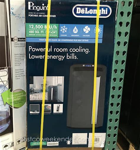 costco room air conditioner delonghi pinguino pac an125hpekc portable air conditioner costco weekender