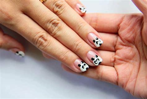 nail art tutorial wikihow 如何做熊猫图案美甲