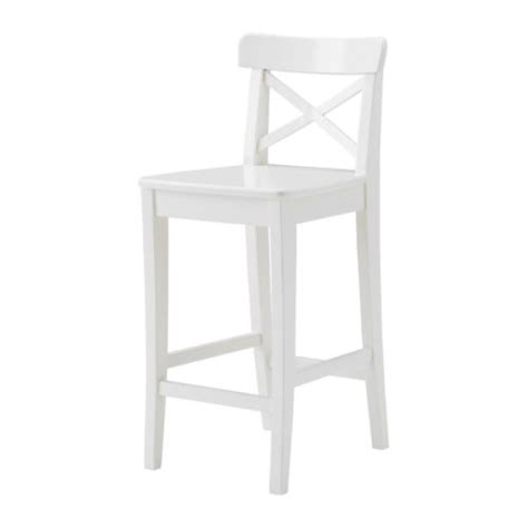 Kitchen Island Chairs With Backs ingolf bar stool with backrest 63 cm ikea