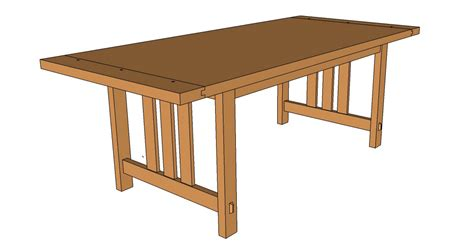 Arts And Crafts Dining Table Downloadable Pdf Plans And Arts And Crafts Dining Table