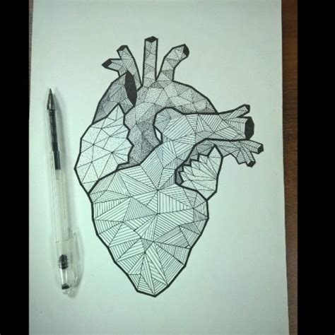 geometric heart tattoo 1000 ideas about wings on wing