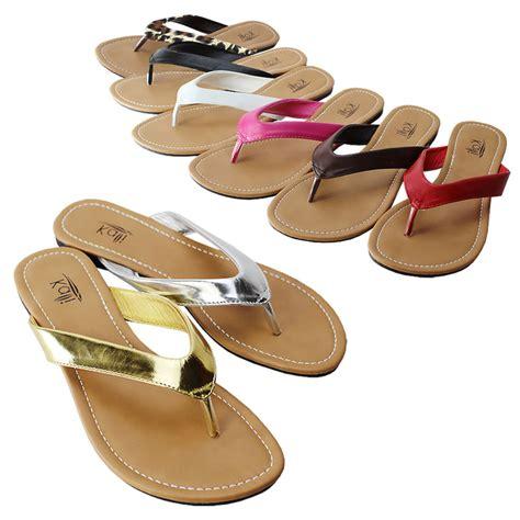 Sandal Flat Wadges Sendal Jepit Sendal Casual Ltv 727 kali womens summer comfort casual flip flop flat sandal slipper shoes new ebay
