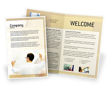 brochure template open office building architecture