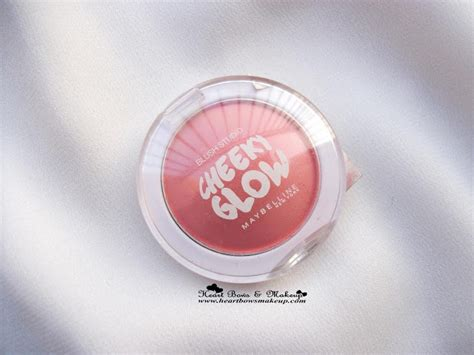 Maybelline Cheeky Glow Blush maybelline cheeky glow peachy sweetie blush review the