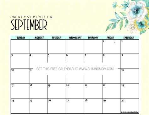 printable planner september 2017 free printable september 2017 calendar 12 beautiful designs