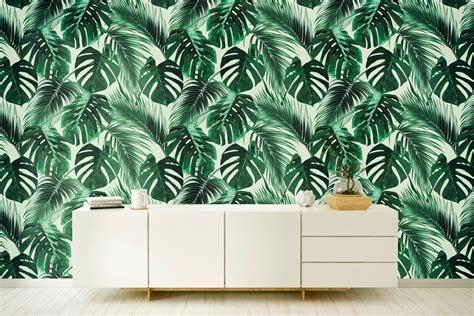 banana leaf wallpaper etsy banano leaves wallpaper banana leaf removable wallpaper