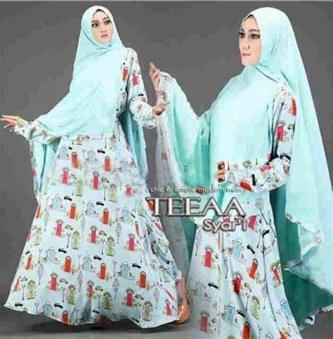Syari Pelangi Tosca Al144 shop baju gamis modern 2015 gamis murni