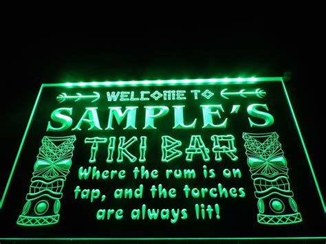 dz014 name personalized custom tiki bar led neon