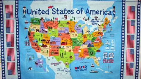 tourist map of united states of america map of united states with points of interest pictures to