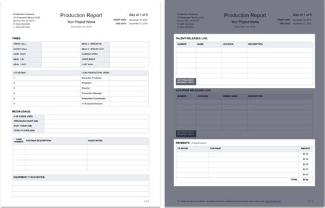 tear business card template the daily production report explained with free template